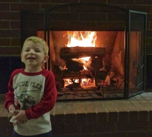 My son Jason loves a good fire!